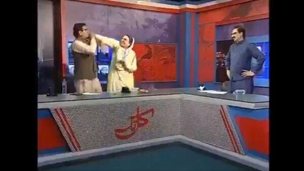 Physical fight between Pakistani politicians  - Sputnik International