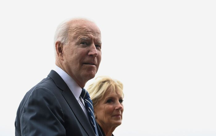 U.S. President Joe Biden and first lady Jill Biden walk outside Carbis Bay Hotel during their meeting with Britain's Prime Minister Boris Johnson and his wife Carrie Johnson (not pictured) , at Carbis Bay, Cornwall, Britain June 10, 2021.