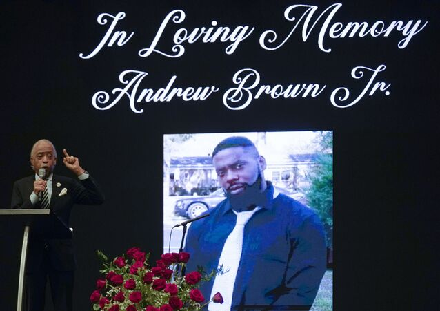 Rev. Al Sharpton speaks during the funeral for Andrew Brown Jr., Monday, May 3, 2021 at Fountain of Life Church in Elizabeth City, N.C. Brown was fatally shot by Pasquotank County Sheriff deputies trying to serve a search warrant.