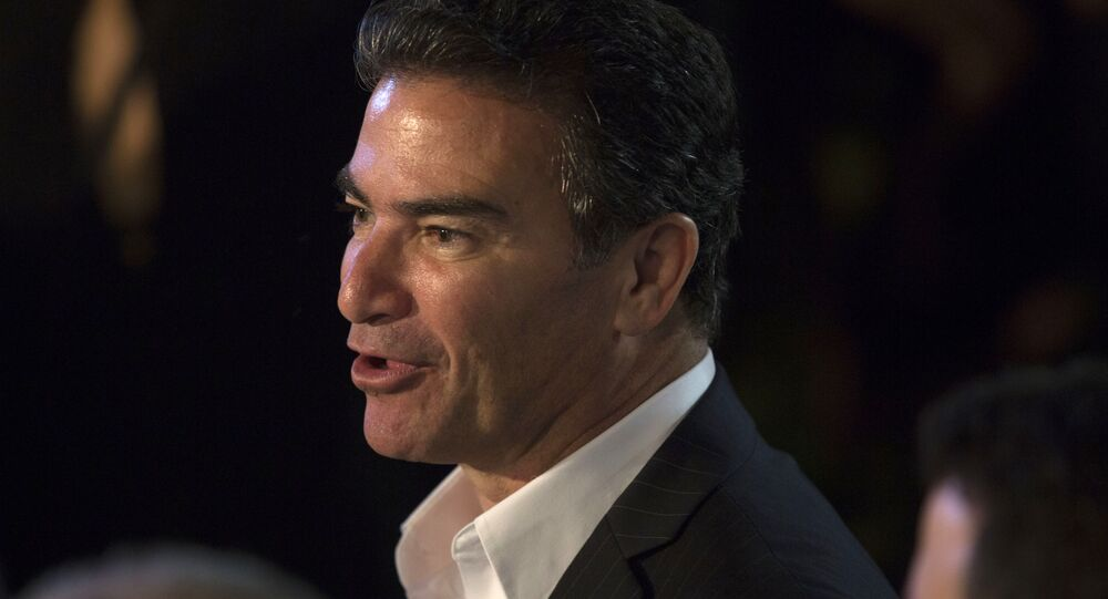 In this Monday, July 3, 2017 photo, Yossi Cohen, the head of the Israeli Mossad attends U.S. Independence Day celebrations at the residence of Ambassador to Israel, David Friedman, in Herzilya Pituah, Israel. (Heidi Levine, Pool via AP).