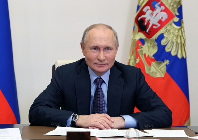 Russian President Vladimir Putin is taking part in a videoconference in the launch of the Amur gas processing plant of the Gazprom company.