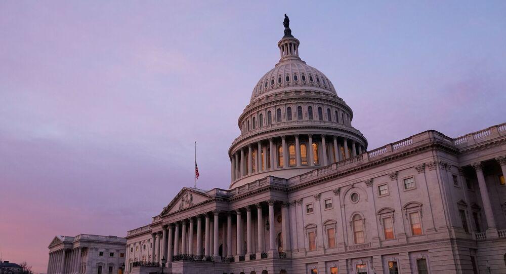 The U.S. Capitol is seen at sunrise.  Washington, U.S. January 11, 2021.