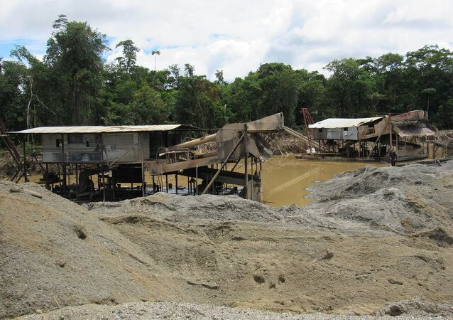 An undated photo of a coal mine in Colombia