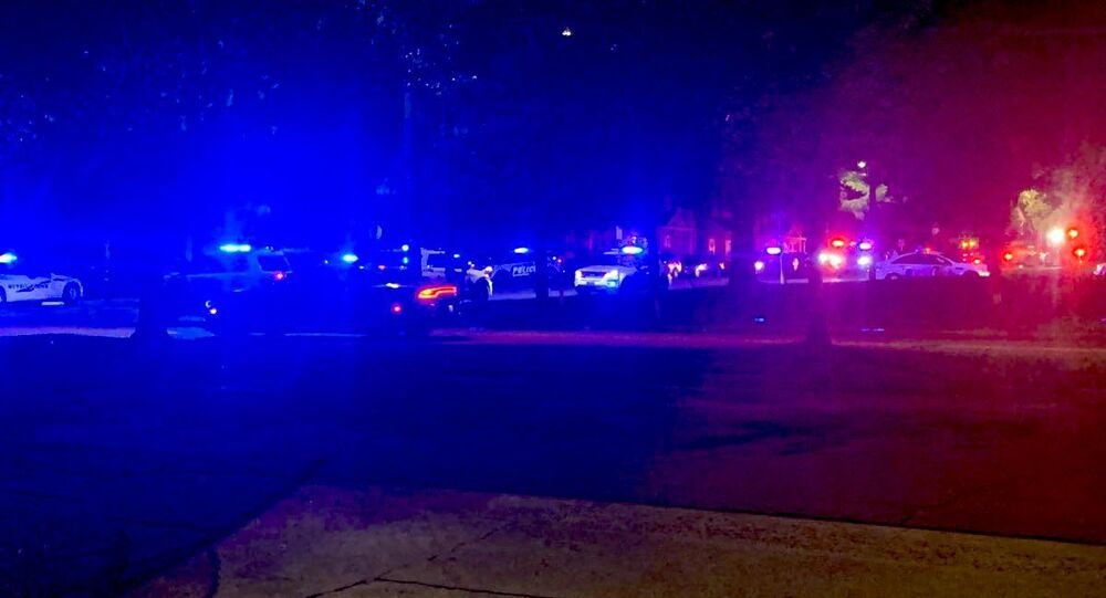 A photo from the scene of the shooting in Savannah, Georgia, June 11, 2021.