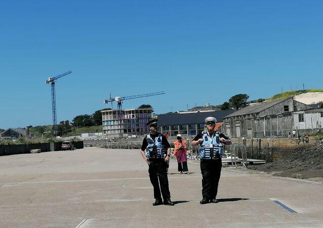 Police at Cornwall Protests