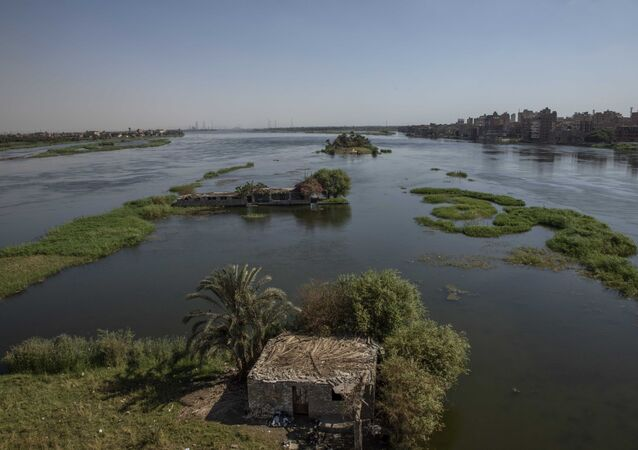 The River Nile as it passes through Beni Suef, Egypt. The Egyptians fear water levels will go down if the Ethiopian dam goes ahead.