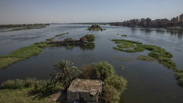 The River Nile as it passes through Beni Suef, Egypt. The Egyptians fear water levels will go down if the Ethiopian dam goes ahead. - Sputnik International