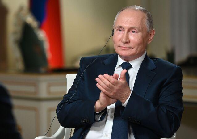 Russian President Vladimir Putin during his NBC interview