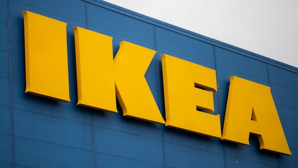 This file photograph taken on January 13, 2021, shows the logo of Scandanavian furniture chain store Ikea at Saint-Herblain, on the outskirts of Nantes, western France. - Sputnik International