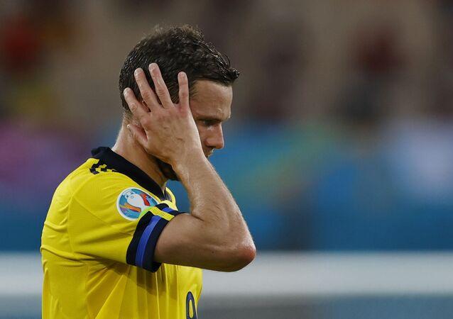 Euro 2020 - Group E - Spain v Sweden - La Cartuja, Seville, Spain - June 14, 2021 Sweden's Marcus Berg reacts