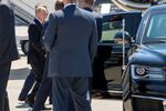 Russian President Vladimir Putin walks after stepping down from an airplane ahead of U.S. - Russia summit, on Geneva Airport Cointrin, Switzerland, Wednesday, June 16, 2021