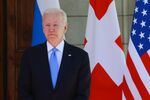US President Joe Biden poses for a photograph prior to his meeting with Russian President at the 'Villa la Grange' in Geneva on June 16, 2021.