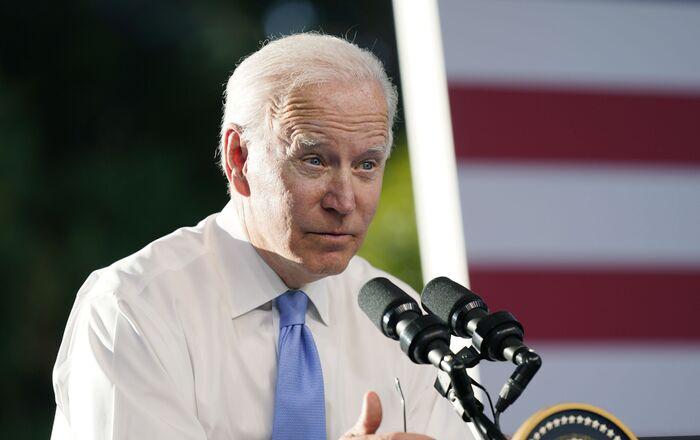 President Joe Biden speaks during a news conference after meeting with Russian President Vladimir Putin, Wednesday, 16 June 2021, in Geneva, Switzerland.