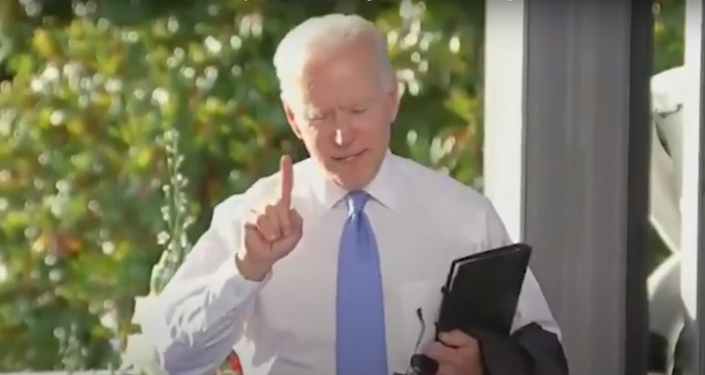 An agitated President Biden responds to a CNN reporter, accusing her of skewing his words about changing Russian President Vladimir Putin's behaviour.