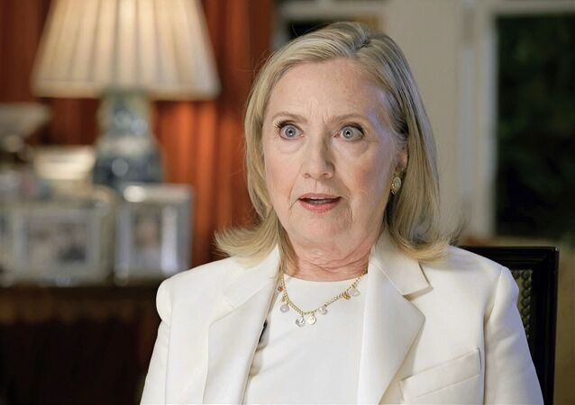 In this image from video, former Secretary of State Hillary Clinton speaks during the third night of the Democratic National Convention on Wednesday, Aug. 19, 2020
