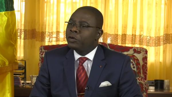 Henri-Marie Dondra, Prime Minister of the Central African Republic, speaks in 2017. when he was still finance minister - Sputnik International