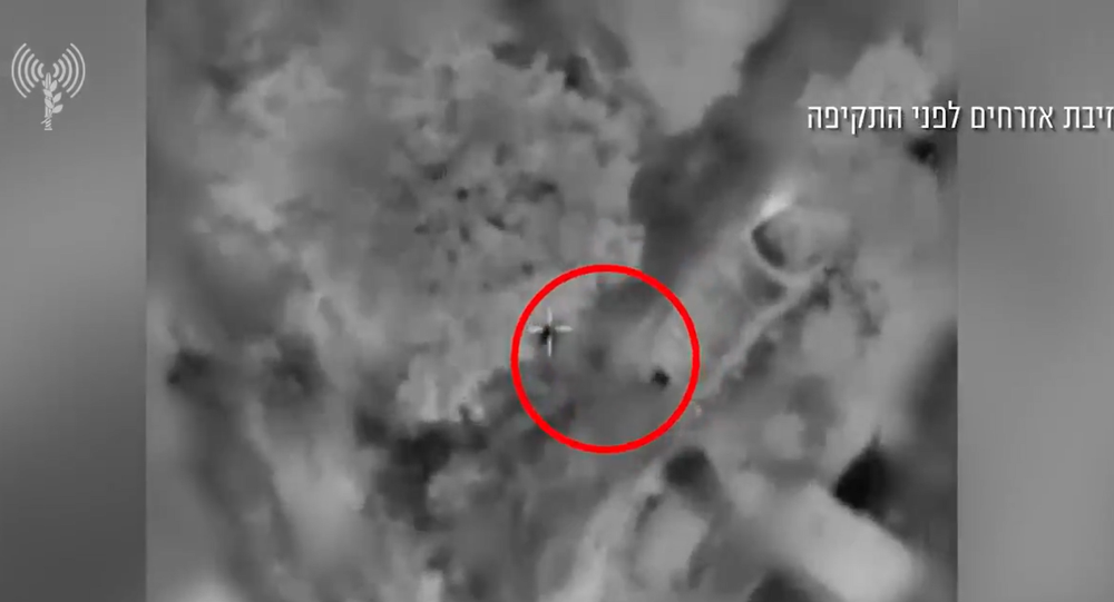 Screenshot from an IDF video showing Israeli airstrikes conducted in the Gaza Strip on Thursday