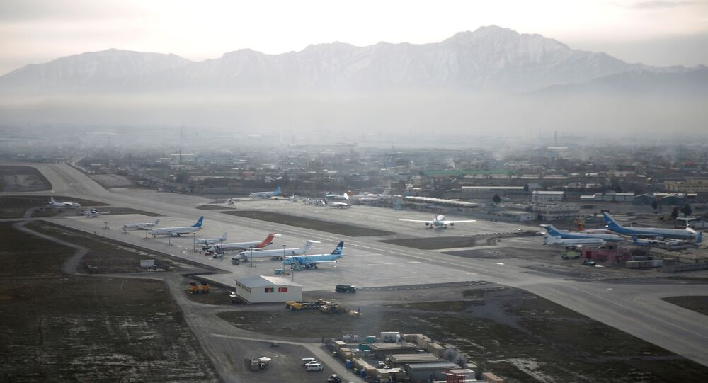 FILE PHOTO: An aerial view of the Hamid Karzai International Airport in Kabul, previously known as Kabul International Airport, in Afghanistan, February 11, 2016