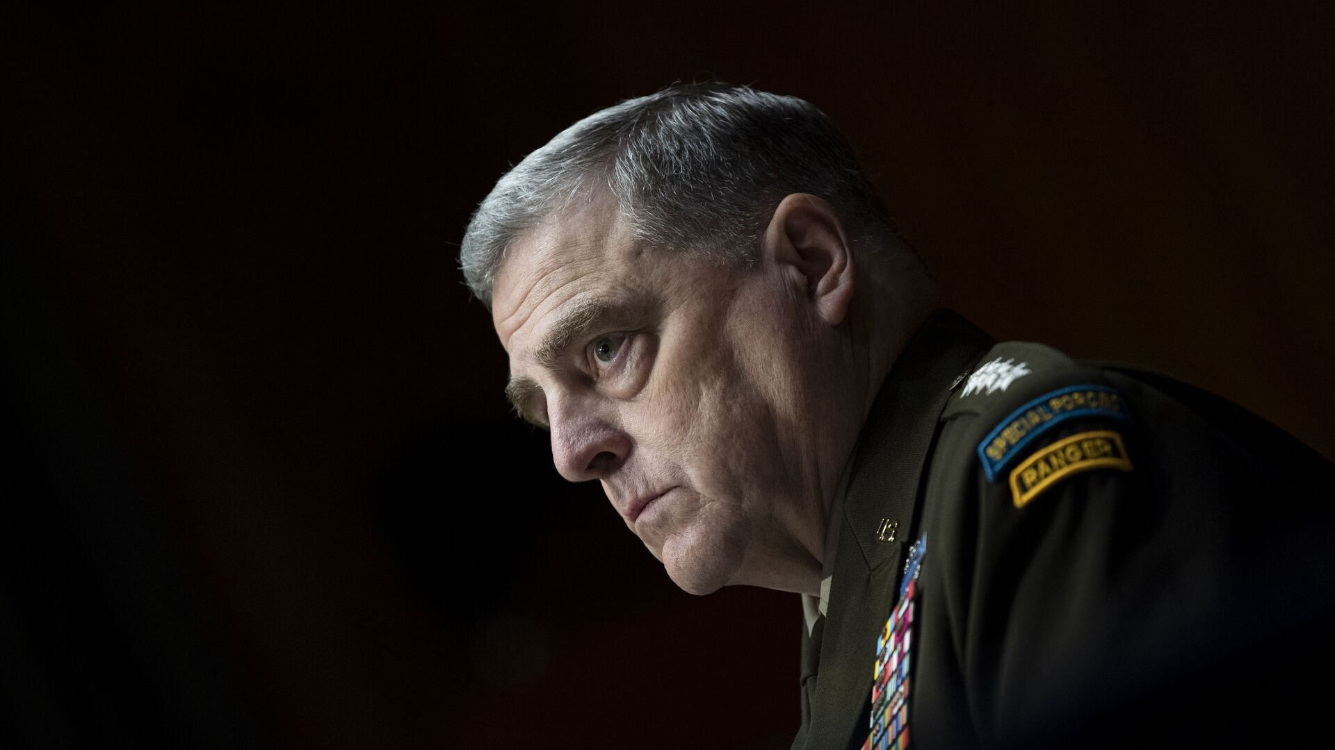 Chairman of the Joint Chiefs Chairman Gen. Mark Milley testifies before a Senate Appropriations Committee hearing to examine proposed budget estimates and justification for fiscal year 2022 for the Department of Defense in Washington on Thursday, June 17, 2021. - Sputnik International, 1920, 14.09.2021