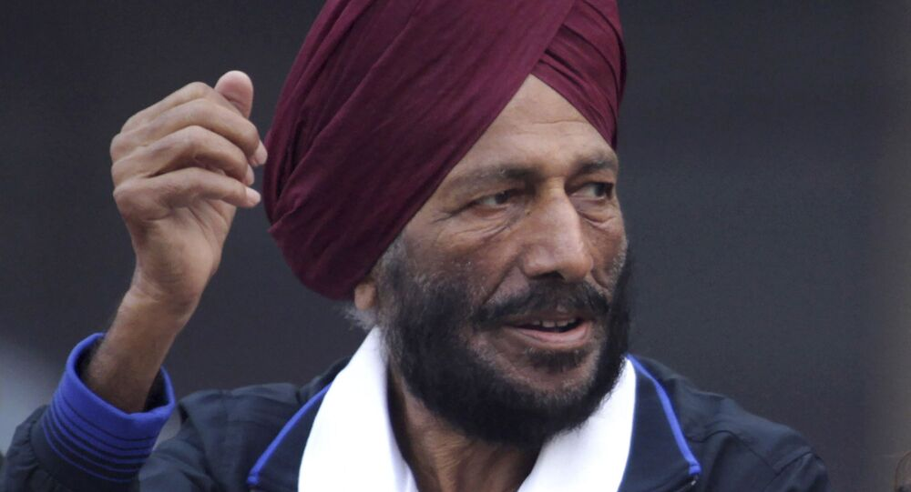 Former Indian athlete Milkha Singh