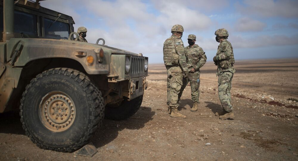 U.S military forces take part in a large scale drill as part of the African Lion military exercise, in Tantan, south of Agadir, Morocco, Friday, June 18, 2021. The U.S.-led African Lion war games, which have lasted nearly two weeks, stretched across Morocco, a key U.S, ally, with smaller exercises held in Tunisia and in Senegal, whose troops ultimately moved to Morocco. (AP Photo/Mosa'ab Elshamy)