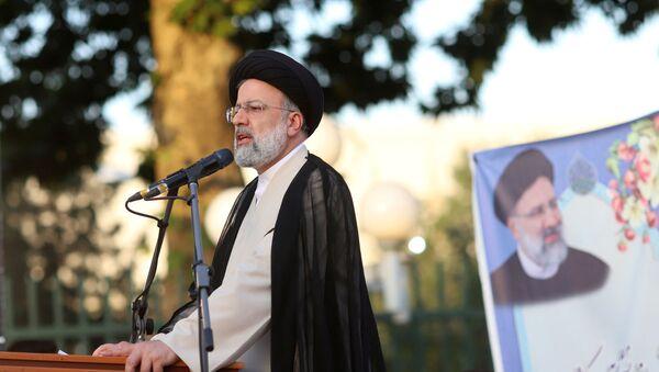 Presidential candidate Ebrahim Raisi speaks during a campaign rally in Tehran, Iran June 15, 2021. Majid Asgaripour/WANA (West Asia News Agency) via REUTERS  - Sputnik International