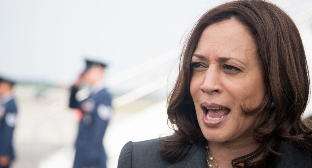 U.S. Vice President Kamala Harris speaks with the media at Hartsfield Jackson International Airport before boarding Air Force Two back to Washington DC on June 18, 2021 in Atlanta, Georgia. Vice President Harris is visiting Atlanta as part of a nationwide tour to encourage Americans to get vaccinated.