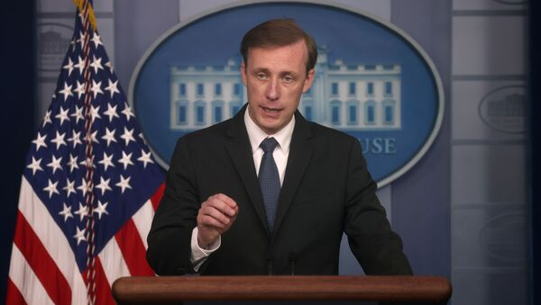 White House National Security Adviser Jake Sullivan takes questions during a press briefing at the White House in Washington, U.S., June 7, 2021. - Sputnik International