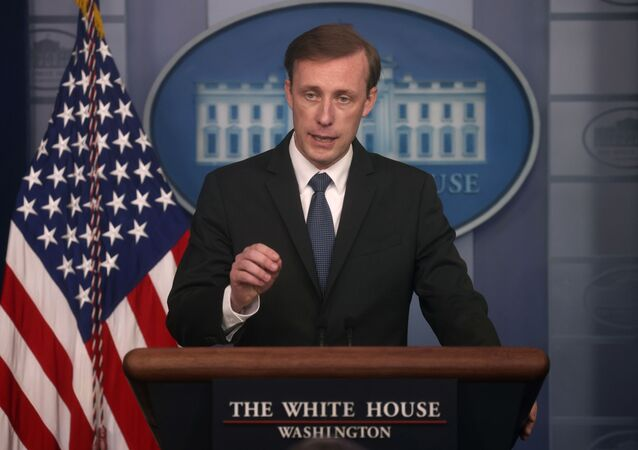 White House National Security Adviser Jake Sullivan takes questions during a press briefing at the White House in Washington, U.S., June 7, 2021.