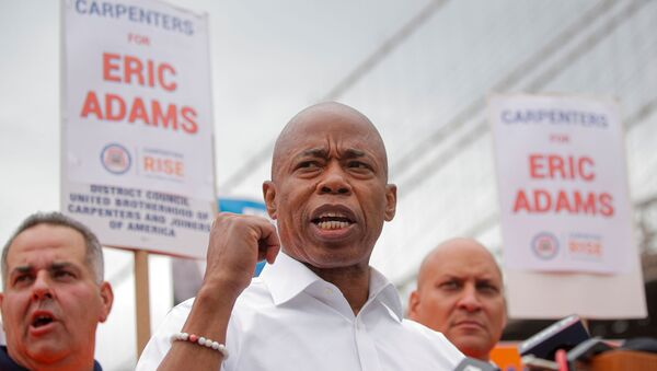 Eric Adams, Democratic candidate for New York City Mayor, speaks during a campaign appearance in Brooklyn, New York, U.S., June 11, 2021 - Sputnik International