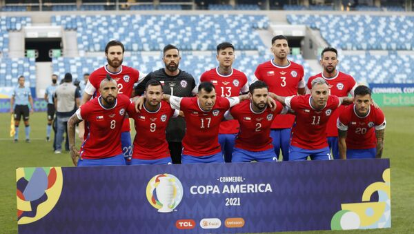 Soccer Football - Copa America 2021 - Group A - Chile v Bolivia - Arena Pantanal, Cuiaba, Brazil - June 18, 2021 Chile players pose for a team group photo before the match - Sputnik International