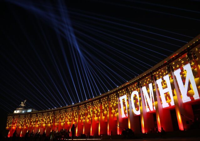 Candles lit in Moscow to honour the 27 million Soviet citizens who perished in the Great Patriotic War on June 22, 2021