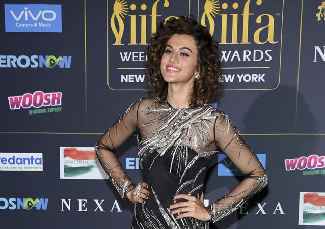 Taapsee Pannu attends the 2017 International Indian Film Academy Festival's IIFA Awards at MetLife Stadium on Saturday, July 15, 2017, in East Rutherford, N.J.