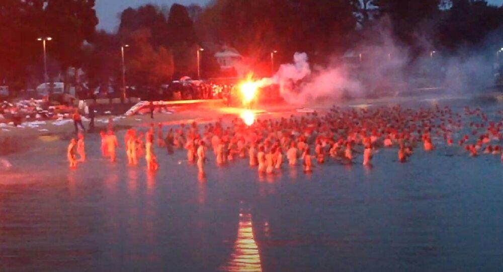 Dark Mofo winter solstice nude swim