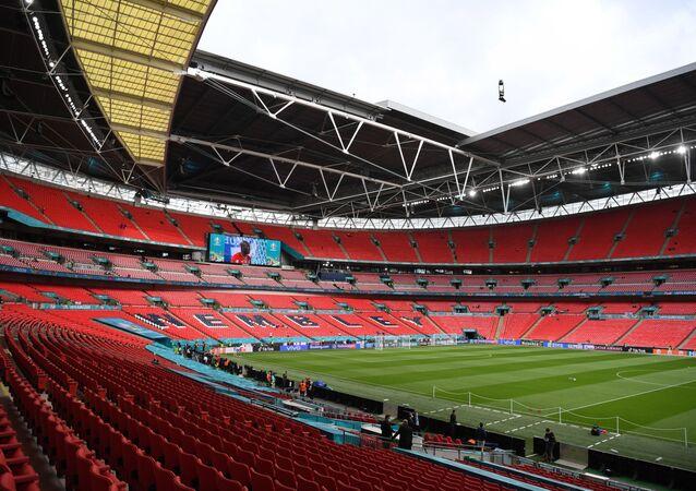 Soccer Football - Euro 2020 - Group D - Czech Republic v England - Wembley Stadium, London, Britain - June 22, 2021 General view inside the stadium before the match
