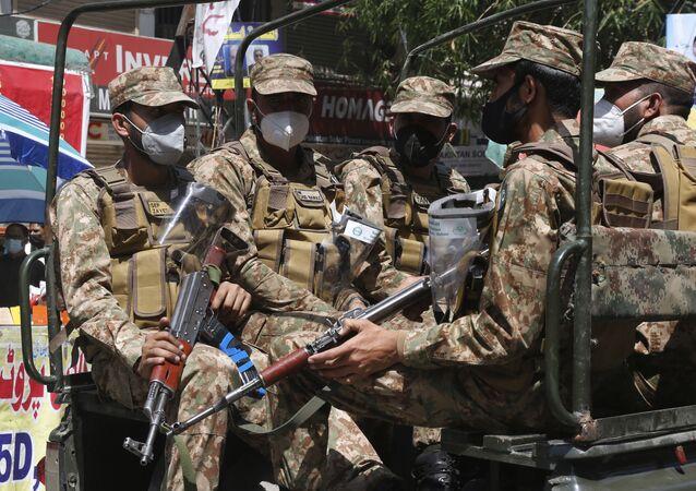 Pakistan army troops  in Lahore, Pakistan  (File)