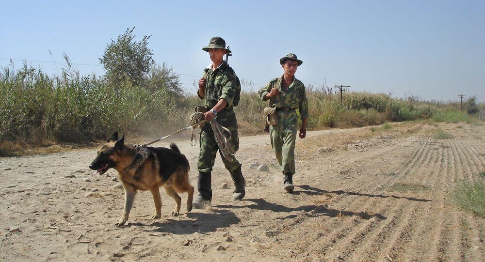 The Tajik-Afghan border, the area patrolling by the Pyandzhsky border guard detachment