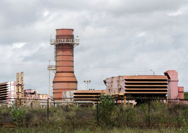 A power plant for steel production is seen in Puerto Ordaz, Venezuela May 18, 2021. The plant was built by a company, Derwick Associates Corp, owned by Venezuelan businessman Alejandro Betancourt.