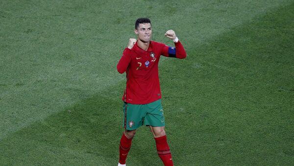 Soccer Football - Euro 2020 - Group F - Portugal v France - Puskas Arena, Budapest, Hungary on 23 June 2021, Portugal's Cristiano Ronaldo celebrates scoring their first goal  - Sputnik International