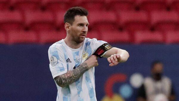 Soccer Football - Copa America 2021 - Group A - Argentina v Uruguay - Estadio Mane Garrincha, Brasilia, Brazil - June 18, 2021 Argentina's Lionel Messi - Sputnik International
