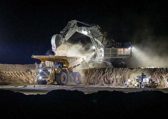 Night work at the Carmichael Mine
