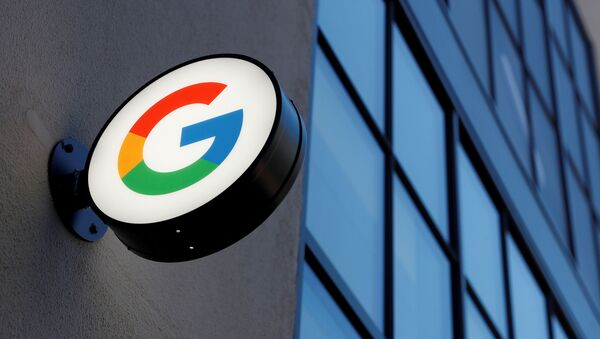 A sign is seen at the entrance to the Google retail store in the Chelsea neighborhood of New York City, U.S., June 17, 2021 - Sputnik International