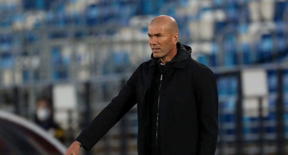 May 9, 2021 Real Madrid coach Zinedine Zidane during the match
