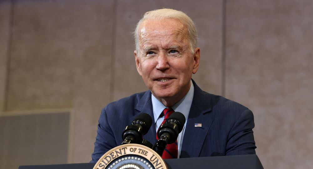 US President Joe Biden delivers remarks on the US COVID-19 vaccination effort at Green Road Community Center in Raleigh, North Carolina, 24 June 2021