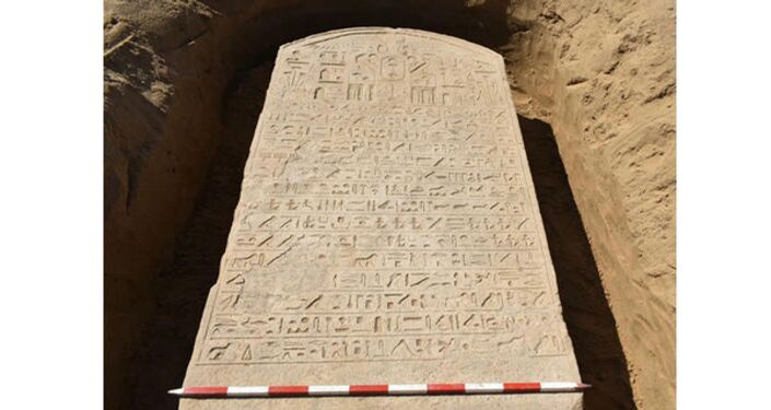 Ancient Egypt's stele, presumably dated back 2,600 years