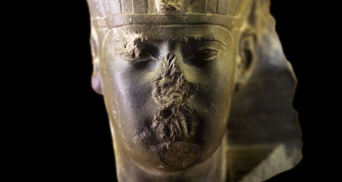Head of an Egyptian king, presumably Apries or Amasis II