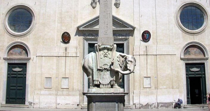 Elephant and Obelisk by Bernini, Santa Maria Sopra Minerva, Rome