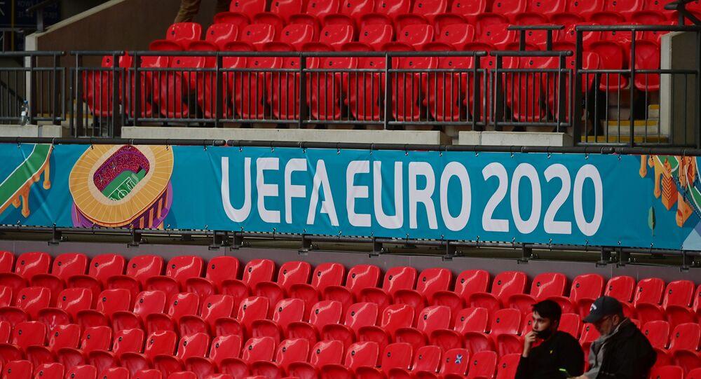 Soccer Football - Euro 2020 - Group D - Czech Republic v England - Wembley Stadium, London, Britain - June 22, 2021 General view of fans inside the stadium before the match