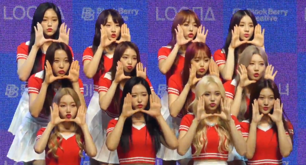 Loona at their debut showcase on August 20, 2018