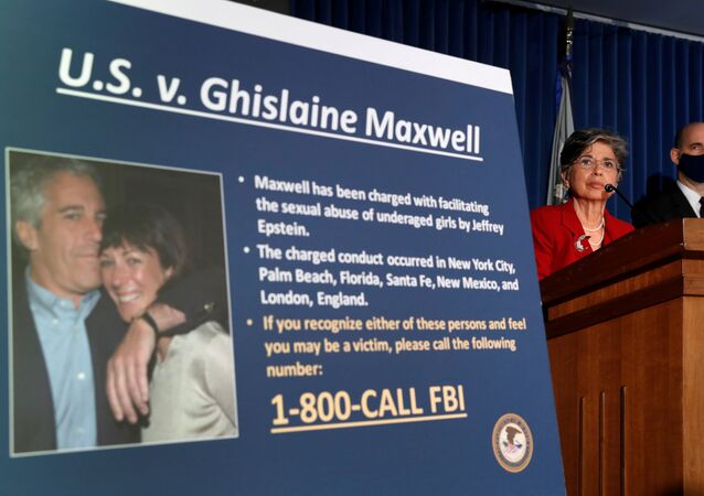 FILE PHOTO: Audrey Strauss, acting U.S. attorney for the Southern District of New York, speaks alongside William F. Sweeney Jr., assistant director-in-charge of the New York Office, at a news conference announcing charges against Ghislaine Maxwell for her alleged role in the sexual exploitation and abuse of minor girls by Jeffrey Epstein in New York City, New York, 2 July 2020